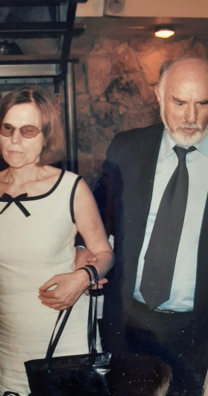 Ο Ηλίας Μαργιόλας με τη σύζηγό του, Σταματίνα Μαγκλή